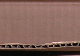 A photograph of corrugated cardboard.
