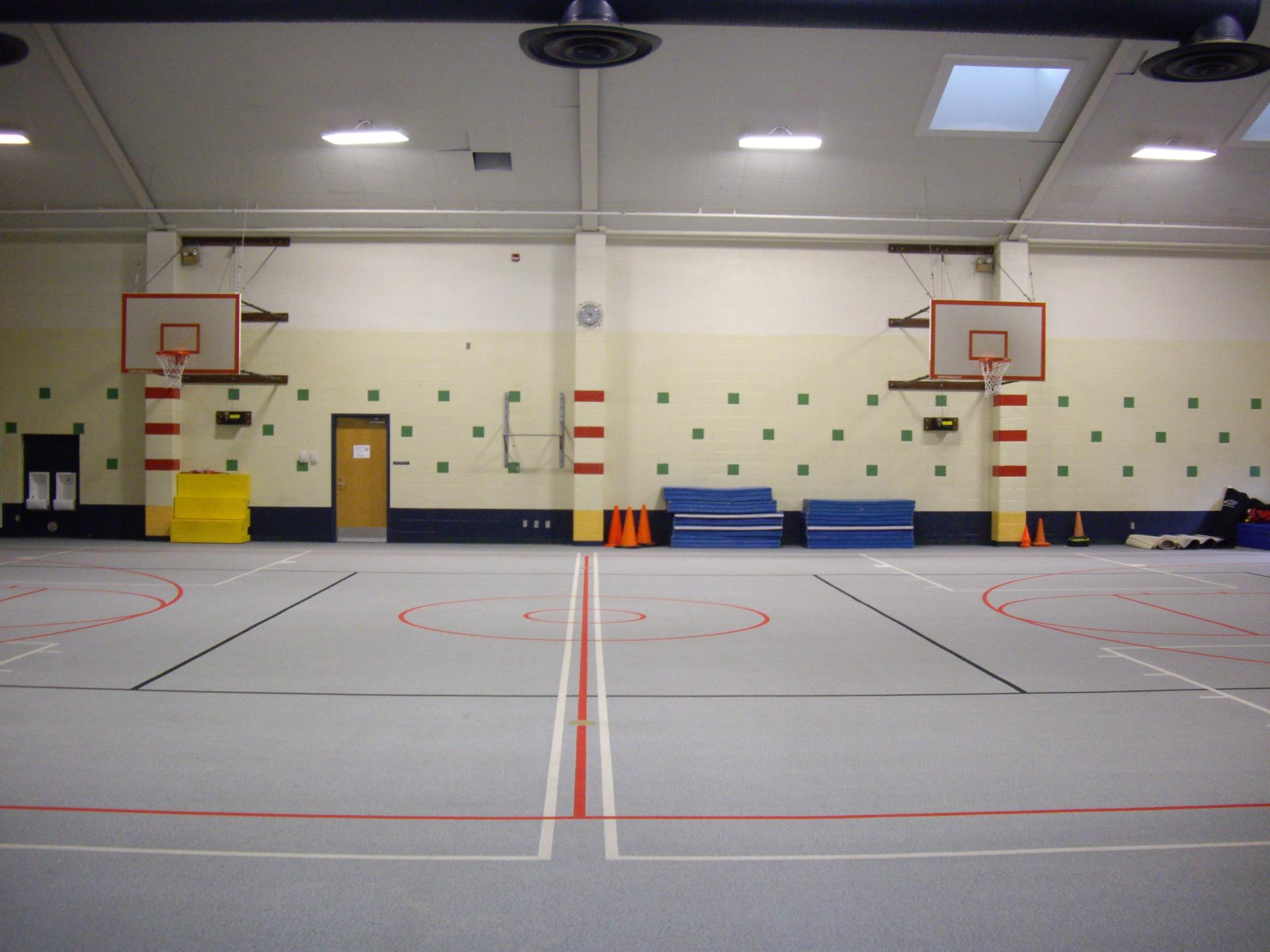 Picture of Kipps Gymnasium with basketball nets