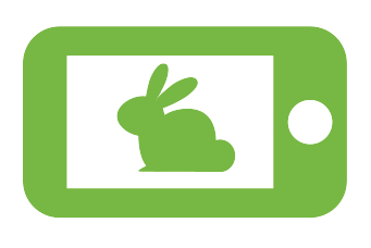 Smartphone with rabbit in picture icon