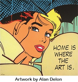 Home is Where the Art is retro image by Alan Delon