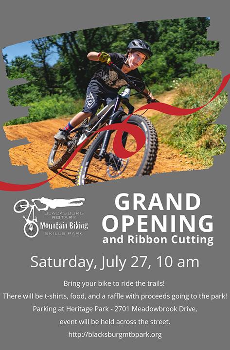 Grand Opening - Blacksburg Rotary Mountain Biking Skills