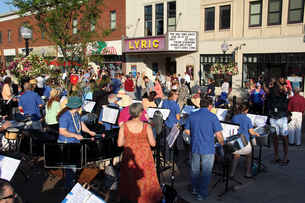 Steel drums played on College Avenue