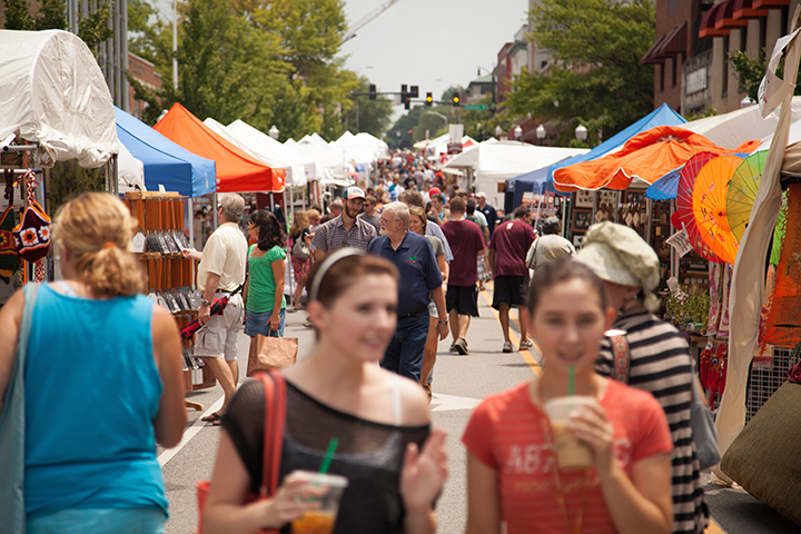 Image of Steppin Out festival on Main Street