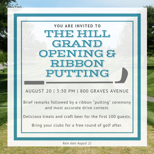 The Hill Grand Opening & Ribbon Putting | Calendar
