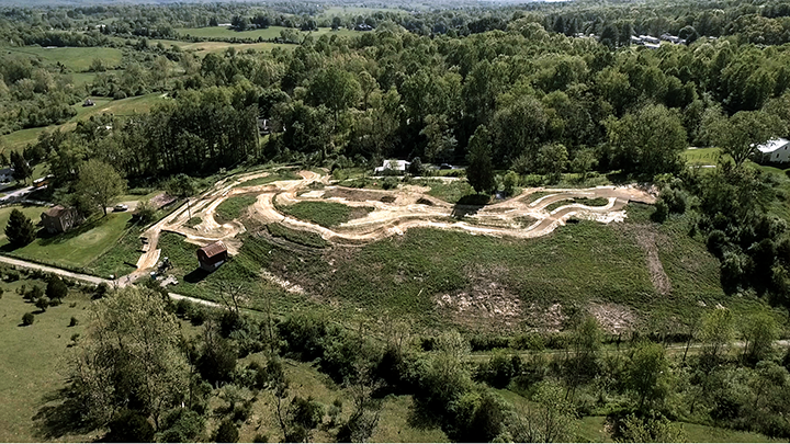 aerial image of Mountain Biking Skills Park