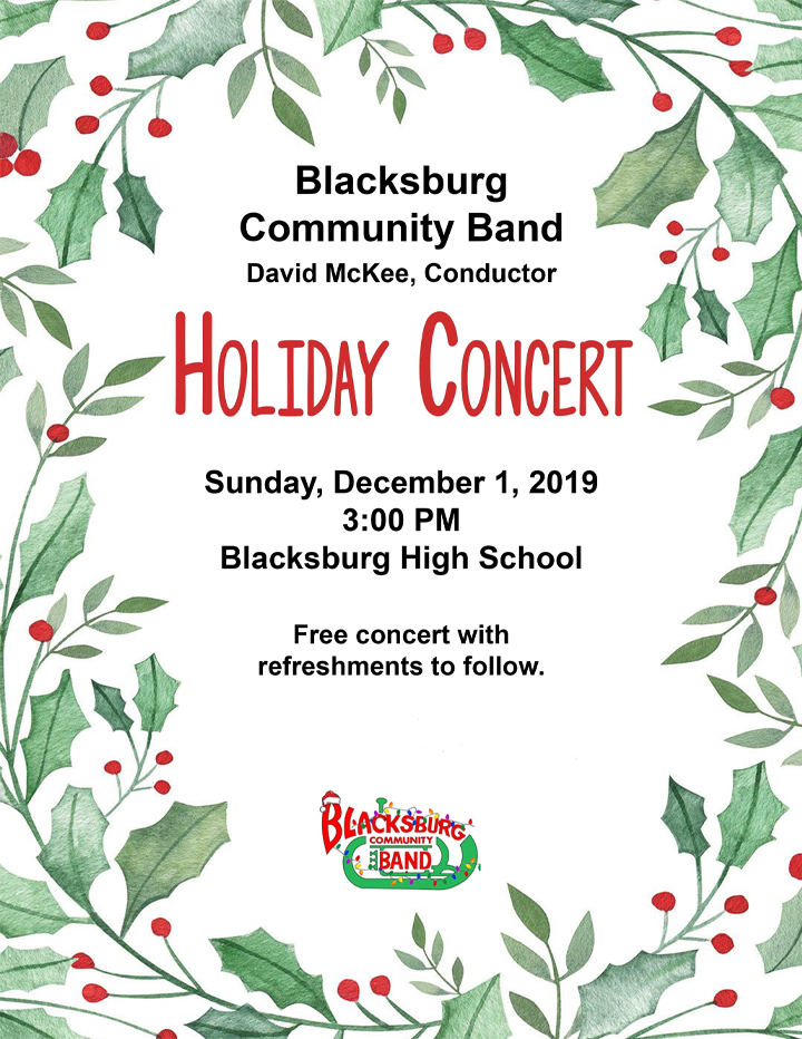 Blacksburg Community Band Winter Concert